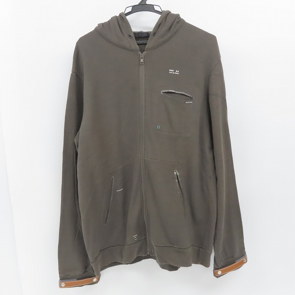 UNDERCOVER ISM/アンダーカバーイズム 10ss less but better期 ジップアップパーカー E4810/3
